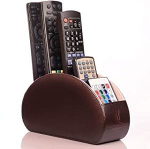 LuxorLux Remote Control Holder Vegan PU Leather 5 Compartment