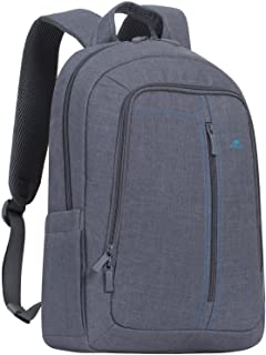 "RivaCase 7560 grey Laptop Canvas Backpack 15.6"" / 6"