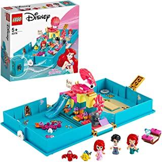 LEGO 43176 Disney Princess Ariel's Storybook Adventures Playset with Ariel the Little Mermaid
