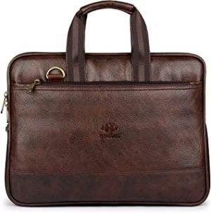 The Clownfish Vegan Leather Laptop Briefcase
