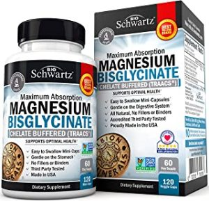 Magnesium Bisglycinate 100% Chelate No-Laxative Effect. Maximum Absorption & Bioavailability
