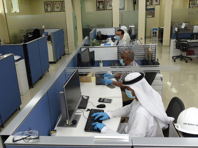 Dubai customs staff at work