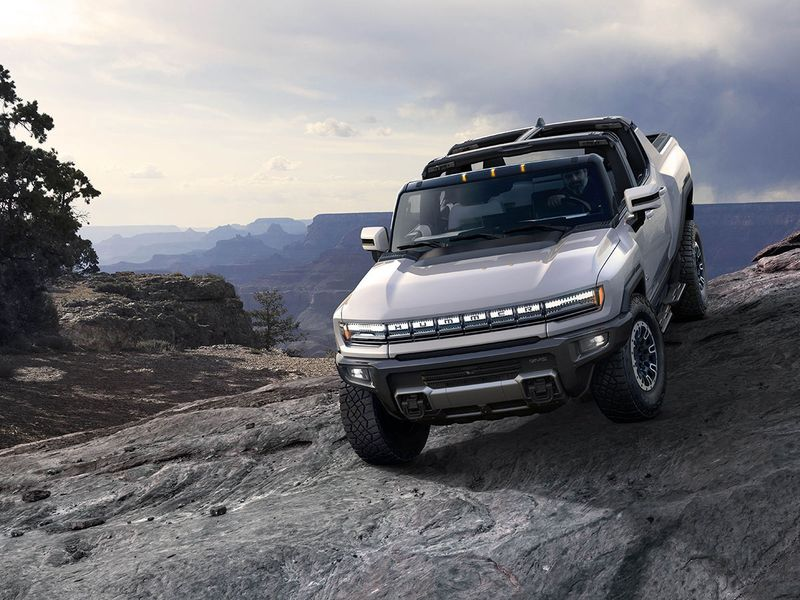 GM's Hummer EV. The carmaker has announced that all its cars will go pure electric by 2035.