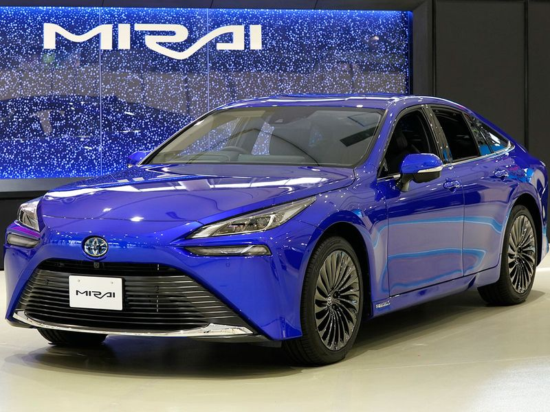 Japan's Toyota Motor Corp put its revamped Mirai hydrogen fuel cell car