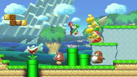 This photo provided by Nintendo shows a scene from the video game