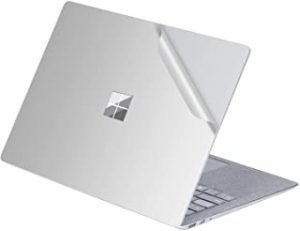 """Masino 1 PCS Top Sticker Protective Decal Protector Laptop Cover Skin for 13"""" 13.5 inch Microsoft Surface Laptop 1/2 (2017 & 2018 Released) for 13.5"""" Surface Laptop silver"""