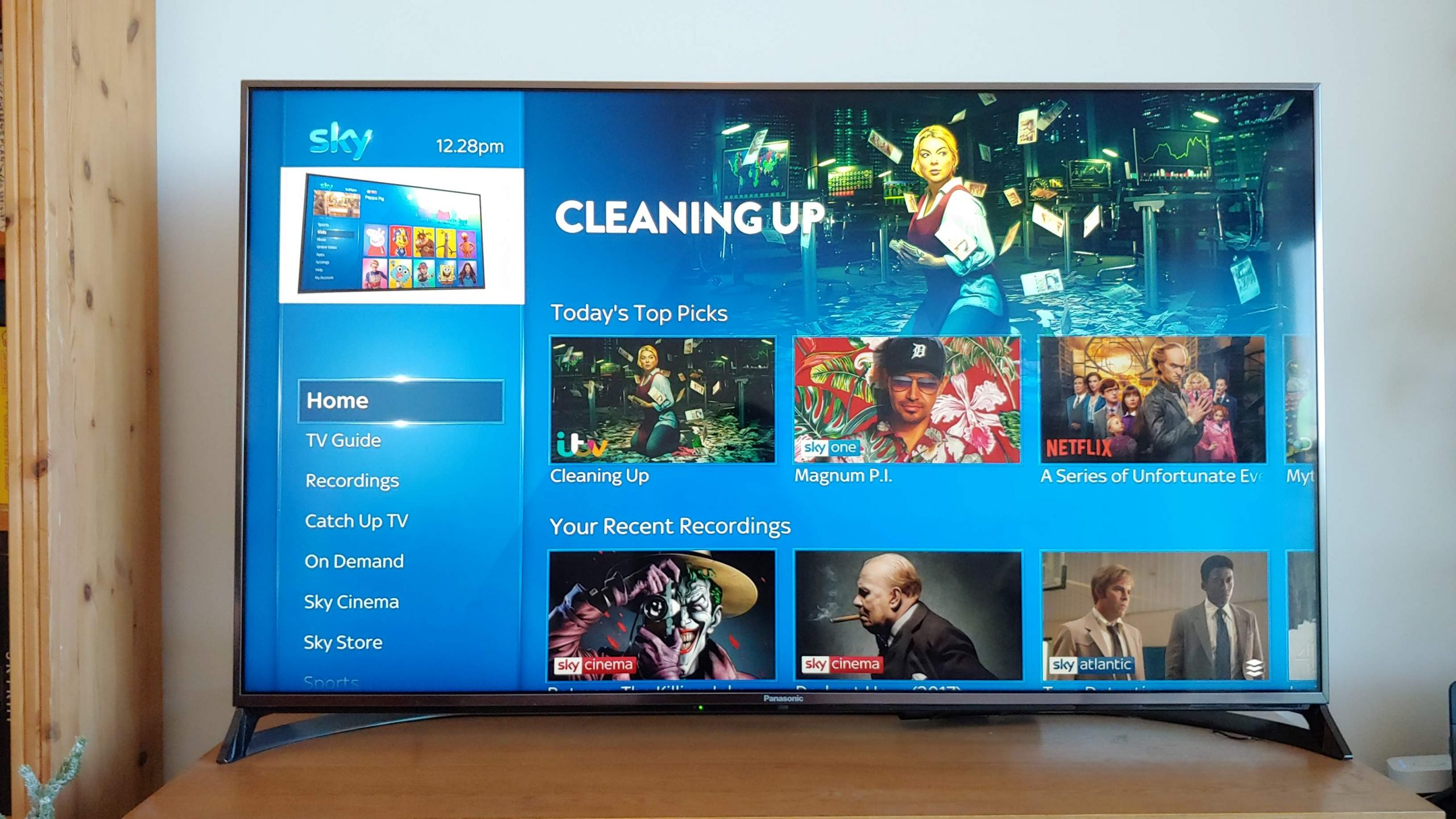 The Sky Q Home area, the heart of the system.