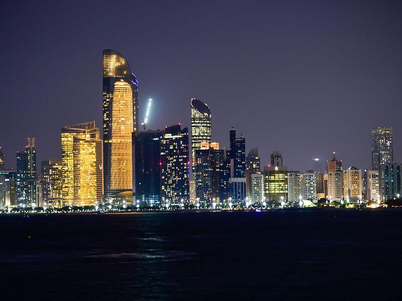 Abu Dhabi skyline corniche