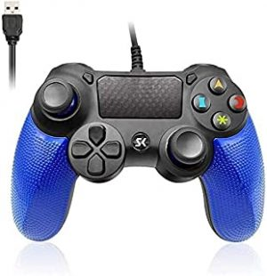 PS4 Controller Wired Double Vibration Shock Gaming joystick PS4 Wired Controller Remote for PlayStation 4/PC/PS4 Pro/ PS4 Slim Cable Length 6.5ft