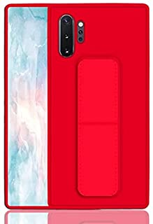 Wrist Strap Stand Phone Case For Samsung Galaxy Note 10 Plus Holder Magnetic Back Cover (Red)