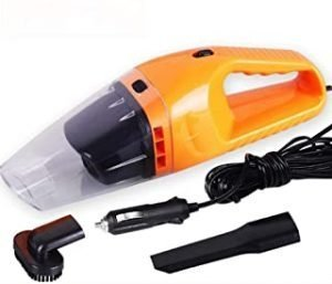 ThinkDo Mini Vacuum Cleaner New 4800Pa Handheld 12V 120W Strong Suction Vacuum Cleaner For Car Wet&Dry Dual Use Car Electronics Spare Filter Vacuum Cleaner (Orange)
