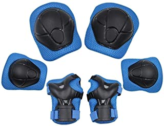 Beauenty Sports Protective Gear Safety Pad Safeguard (Knee Elbow Wrist) Support Pad Set Equipment for Kids Roller Bicycle BMX Bike Skateboard Protector Guards Pads