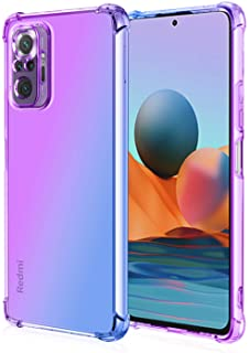 EasyLifeGo for Xiaomi Redmi Note 10 Pro/Redmi Note 10 Pro Max Case Slim Shock Absorption Flexible TPU Soft Edge Bumper with Reinforced Corners Multicolor Gradient Protective Cover