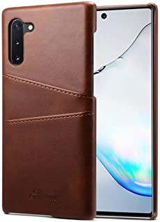 Mobile Phone Cases Suteni Calf Texture Back Cover Protective Case with Card Slots for Galaxy Note 10(Khaki)