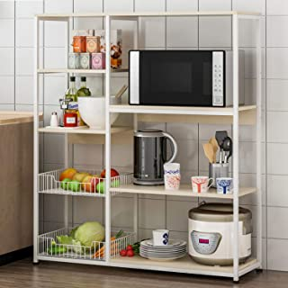 4-Tier Microwave Oven Stand Shelves Kitchen Storage Shelf Rack Kitchen Space Save Shelf for Utensils
