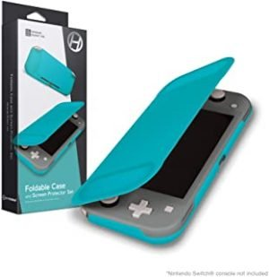 Hyperkin Foldable Case and Screen Protector Set for Nintendo Switch Lite (Turquoise) - Nintendo Switch