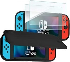ProCase Cover with 2 Pack Tempered Glass Screen Protectors Compatible for Nintendo Switch