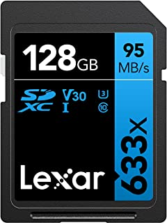 Lexar Professional 633x 32GB SDHC UHS-I Card w/Image Rescue 5 Software - LSD32GCB1NL633 128GB LSD128GCB1NL633