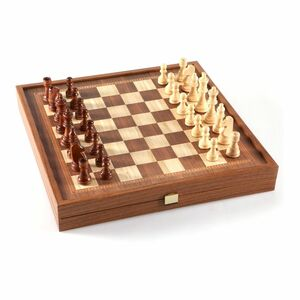 Manopoulos 2 In 1 Combo Set Of Chess And Backgammon Large Classic Style 41cm X 41cm