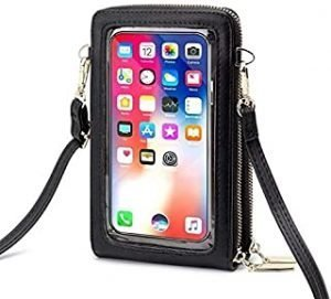 women hand bags touch screen mobile phone bag PU leather purses and handbags women phone shoulder cross body bag for iPhone 12