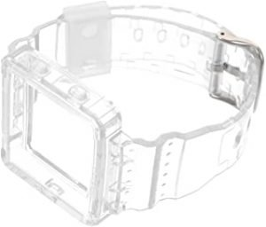 Hemobllo Watch Band Crystal Clear Watch Strap with Case Compatible for Fitbit Blaze