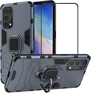 2ndSpring Case for OPPO Reno 5 Pro 5G with Tempered Glass Screen Protector