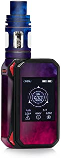 Skin Decal Vinyl Wrap for Smok G-Priv 2 230w Touch Screen Vape Stickers Skins Cover/Blue Pink Smoke Cloud