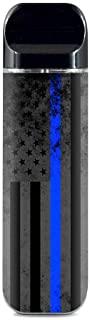 IT'S A SKIN Decal Vinyl Wrap for Smok Novo Pod System Vape Sticker Sleeve/Thin Blue line American Flag Distressed