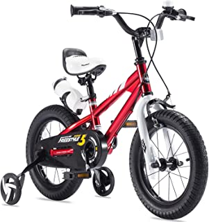 RoyalBaby Boys Girls Kids Bike Freestyle 12 14 16 18 20 Inch Bicycle for 3-12 Years Child's Bicycles With Training Wheels or Kickstand Child Cycle Blue Red Green Pink