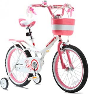 RoyalBaby Girls Kids Bike Jenny 12 14 16 18 20 Inch Bicycle for 3-12 Years Old Child's Cycle With Basket Training Wheels Or Kickstand Basket Child Bike Pink