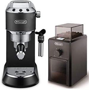 De'longhii Dedica Style Pump Espresso Machine Black - EC685.Bk+KG79 (Bundle)