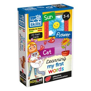 Kidslove Life Skills Learning My First Words Flash Cards