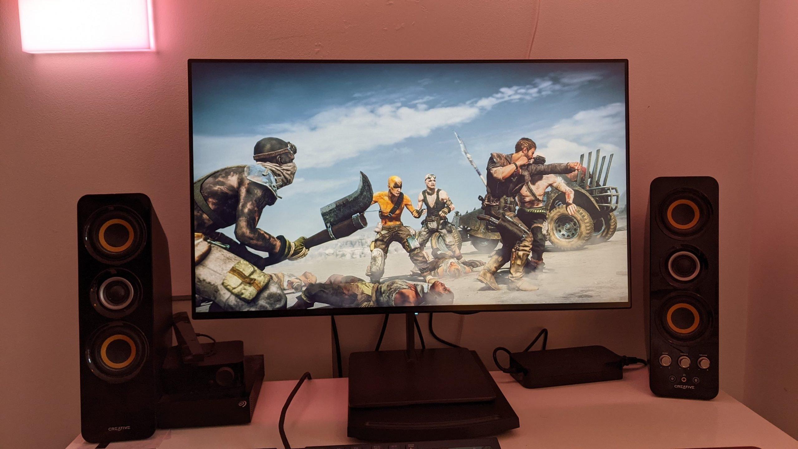 Eve Spectrum 4K 144Hz (ES07D03) monitor on a desk