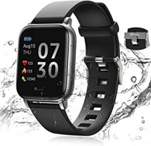 24HOCL Smart Watch Fitness Tracker with Temperature Measurement Heart Rate Monitor 1.3 Inch Single Touch Screen