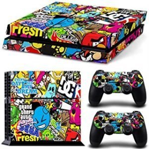 Vinyl Skins Games Console Decals & Controller Stickers Skin compatible with Sony PS4 Console(regular version